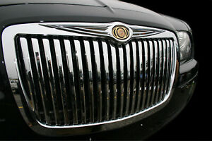 Fits 05 2010 Chrysler 300 Chrome Vertical Bentley Grill Full Replacement Grille