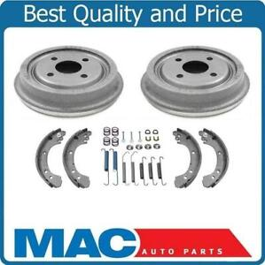 91 02 Saturn Sc Sl Sw Rear Brake Drums Shoes With Brake Springs 4pc