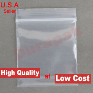 500 4 Mil 13x18 Clear Zip Reclosable Zipper Lock Seal Poly Bag Retail Packing