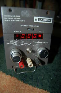 Lambda Lq 520 Power Supply Regulated Low Volts Volt Dc