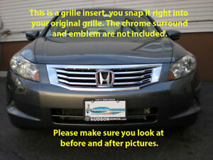 08 2010 Honda Accord Chrome Grille Grill Insert Trim 4dr Sedan