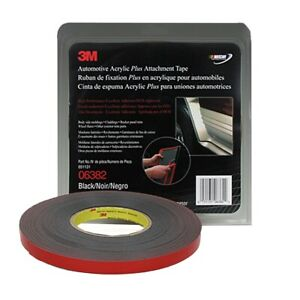 3m Automotive Acrylic Plus Attachment Tape Black 1 2 X 20 Yds Mmm6382 New