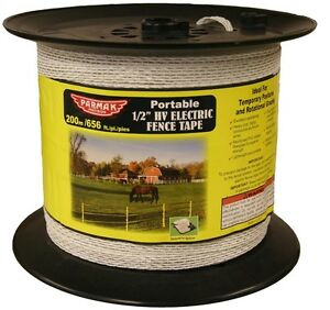 Parker 680 1 2 In 656 Ft Heavy Duty Electric Fence Tape White
