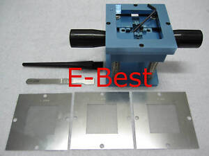 0 5mm 0 6mm 0 76mm Bga Stencil Template Reballing Station Kits
