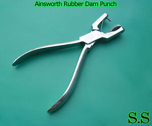 9 Ainsworth Rubber Dam Punch Dental Surgical Instrument