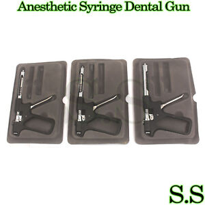 3 Dental Intraligamental Anesthetic Syringe Dental Gun