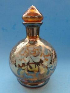 Vintage Blown Glass Silver Overlay Decanter