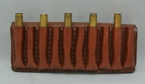 Leather RIFLE 10 CARTRIDGE CARRIER  AMMO SLIDE Fits 300243270 BROWN
