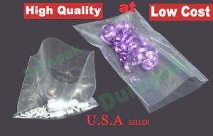 1000 10x16 2 Mil Clear Flat Open Top Poly Plastic Bag Parts Food Shirt Retail