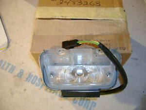 Nos Mopar 1965 6 Plymouth Fury Lh Park Light Lamp Assy Nib