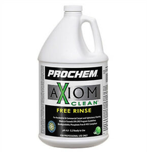 Prochem Axiom Clean Free Rinse Carpet Extraction Rinse 1 Gallon