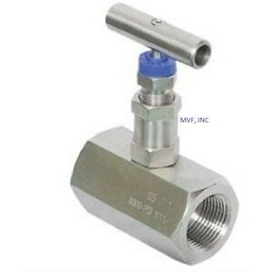 Needle Valve 1 2 Female Npt 6000 Psi Stainless Delrin Seats Nace New