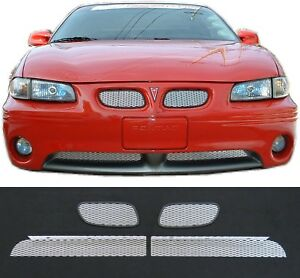 Ccg Mesh Grill Inserts For 1997 03 Grand Prix Gt Gtp Grille Diamond Extreme 4pc