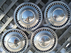 Antique Vintage Classic Ford Galaxie Fairlane Hubcaps Wheel Covers Center Caps