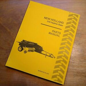 New Holland 316 Hay Baler Hayliner Parts Catalog Book List Manual Nh