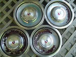 Vintage 1977 1978 1979 Buick Lesabre Electra Hubcaps Wheel Covers 15 In