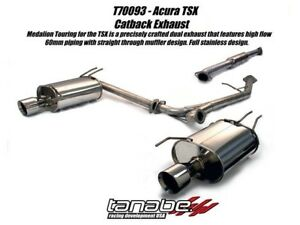 Tanabe Medalion Touring Exhaust 04 08 Acura Tsx
