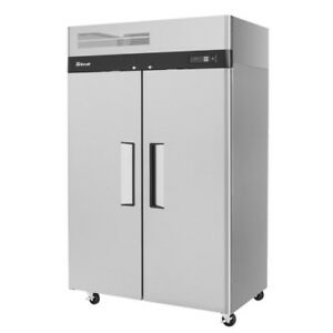 Turbo Air M3r47 2 Two section Solid 2 Door Reach in Refrigerator 47 Cu Ft
