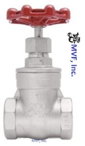Gate Valve 1 Npt 200 Wog 316 Stainless Steel Factory New 305wh