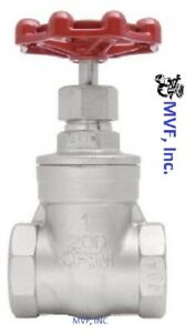 Gate Valve 3 4 Npt 200 Wog 316 Stainless Steel Factory New