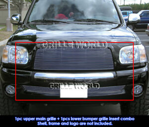 Fits 2003 2006 Toyota Tundra Billet Grille Combo Insert