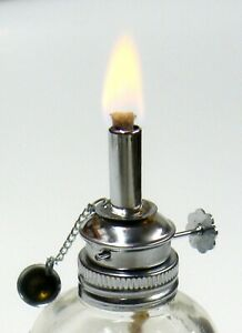 Alcohol Lamp Spirit Lamp Burner Adjustable 3 16 Wick 4oz Faceted Glass Wax Work