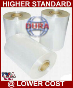 8 4370 Ft 60 Ga Clear Central Fold Polyolefin Heat Shrink Film Wrap Wrapping
