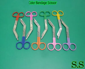 50 Pieces Bandage Scissors Mix Color Paramedic Nurses Uniform 5 50