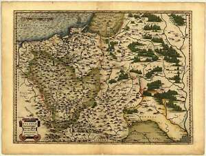 A1 Colour Poland Lithuania West Russia Reproduction Ortelius Old Antique Map