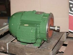 Weg 00318et3e182tc cf60522 3 Hp 3 Phase Motor 208 230 460 Volt Single Shaft