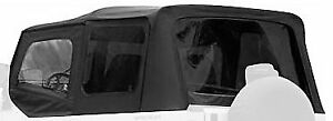 Black Denim 88 95 Jeep Wrangler Soft Top Upper Skins