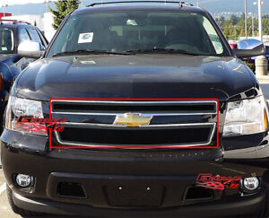 Fits 2007 2014 Tahoe Suburban Avalanche Black Mesh Main Upper Grille