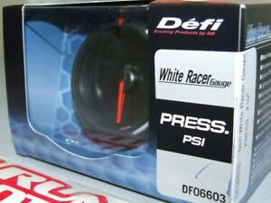 Defi White Racer Electronic Oil Fuel Pressure Gauge