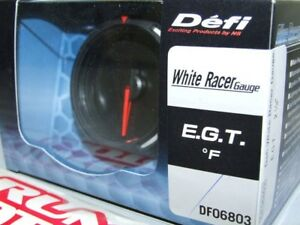 Defi White Racer Electronic Exhaust Gas Temp Egt Gauge