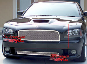 Fits 2005 2010 Dodge Charger Stainless Steel Mesh Main Upper Grille Insert Fits 2010 Dodge Charger