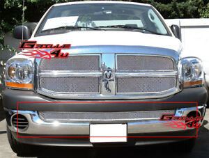 Fits 2002 2008 Dodge Ram 1500 02 09 2500 3500 Lower Stainless Chrome Mesh Grille