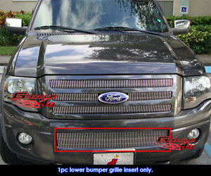 Fits 2007 2014ford Expedition Lower Bumper Vertical Billet Grille