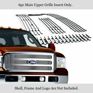Fits 2005 2007 Ford F250 F350 Super Duty Excursion Billet Main Upper Grille
