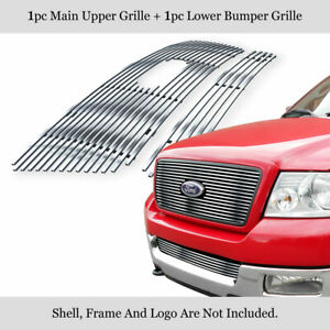 Fits 2004 2005 Ford F 150 Honeycomb Style Billet Grille Combo