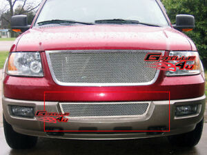 Fits 2003 2006 Ford Expedition Lower Bumper Stainless Mesh Grille