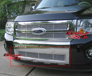 Fits 2008 2011 Ford Escape Lower Bumper Stainless Mesh Grille