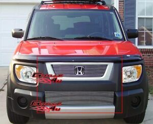 Fits 2003 2006 Honda Element Billet Grille Combo Insert