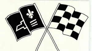 Corvette Racing Flags Vinyl Decal Sticker