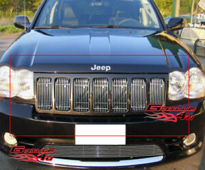 Fits 2009 2010 Jeep Grand Cherokee Vertical Billet Main Upper Grille