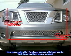 Fits 2005 2007 Nissan Pathfinder frontier Mesh Grille Combo