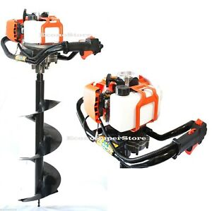 One Man Gas Post Hole Digger Fencing Soil Drill Machine W 4 6