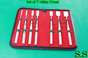 Set Of 7 Hibbs Chisel 9 Orthopedic Surgical Instruments