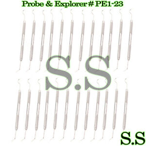 25 Probe Explorer Pe1 23 Dental Surgical Instruments
