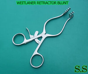 2 Weitlaner Retractor Blunt 5 5 surgical Ent Instruments