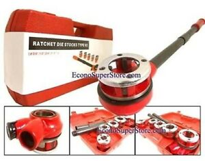5 Dies Handheld Pipe Threader Ratchet Type 62 Pipe Cutter No 2